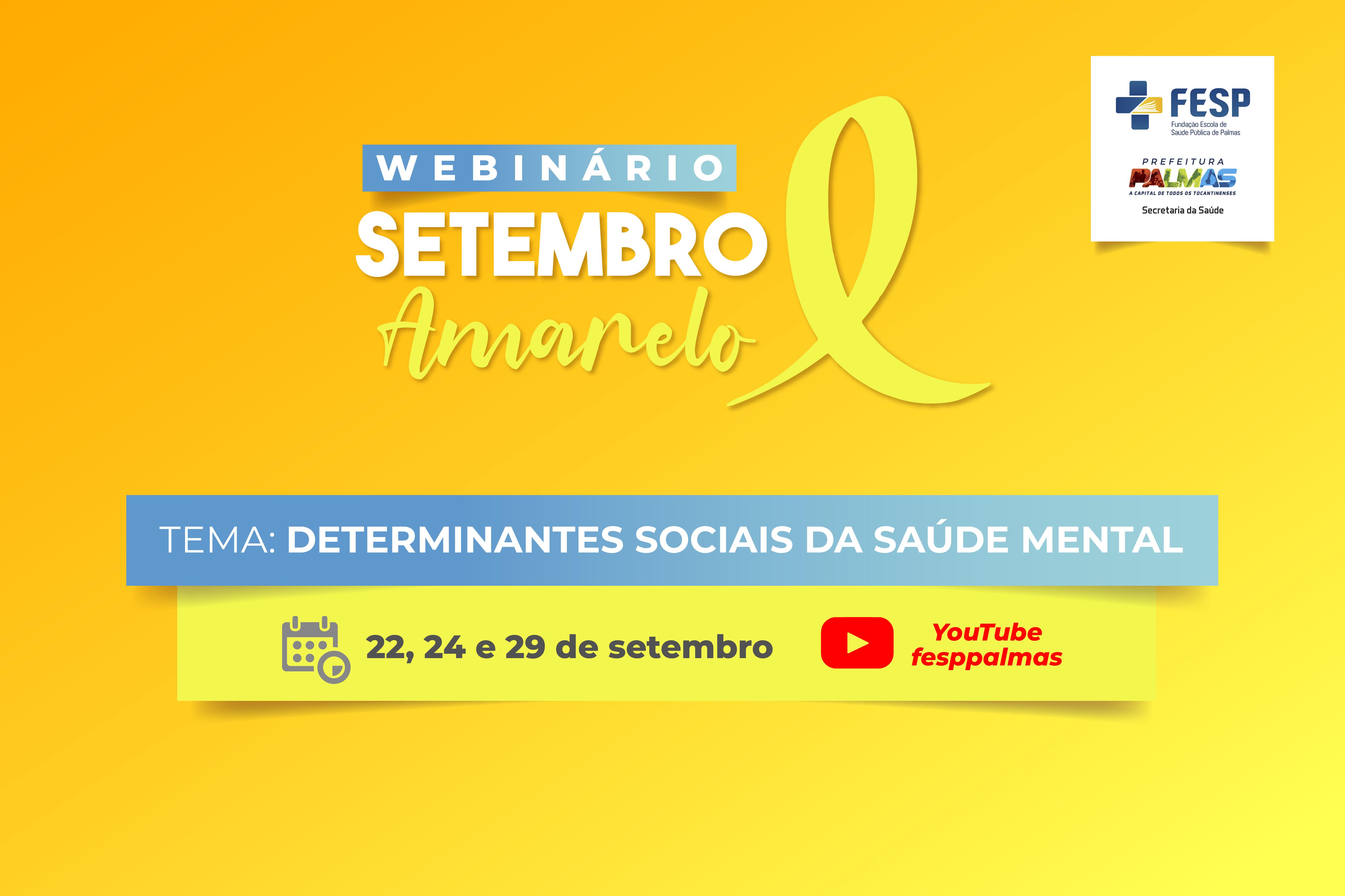 Prefeitura de Palmas realiza evento on-line sobre enfrentamento à violência autoprovocada